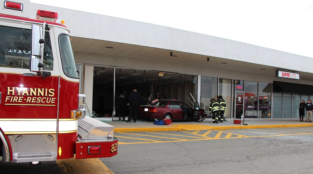 "88-year-old woman transported to CCH after crashing into ""T-Mobile building…"""