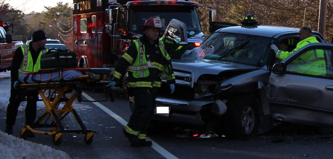 Car crash with injuries closes 28…  [Video plus other stories]