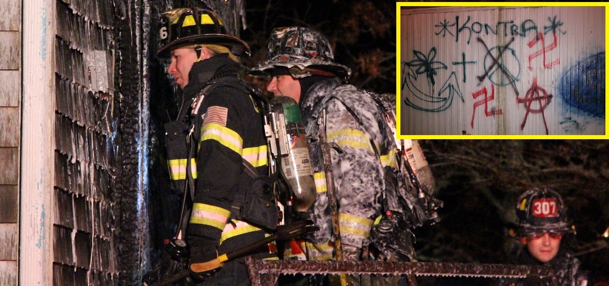 1800 feet of hose needed to reach suspicious house fire… swastikas and satanic symbols found [Video]