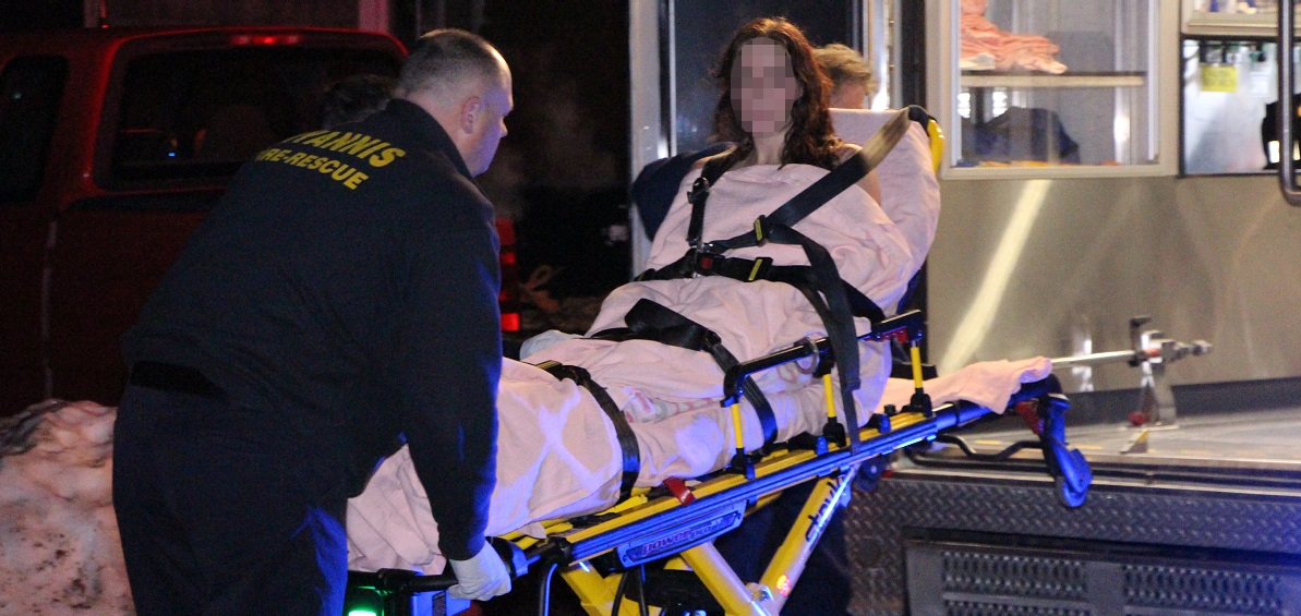 UPDATED: Home intruder handcuffed to stretcher…