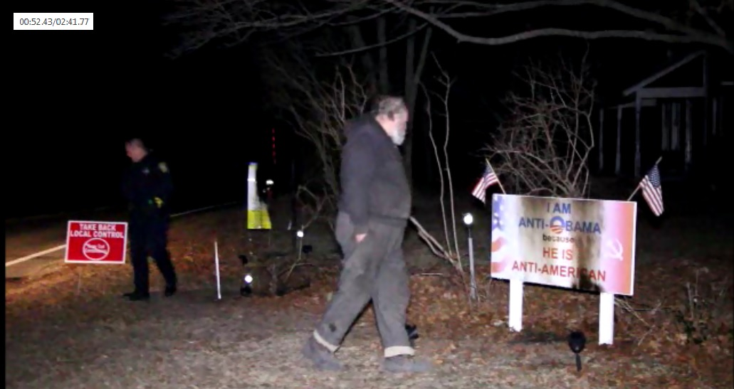 ARSON:  Cotuit man witnesses someone burning his political signs… an ongoing issue… [Video]