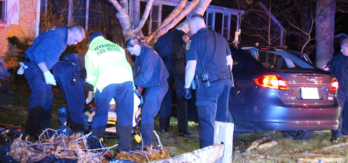 Woman drives into tree and knocks herself out after lover's quarrel… patrolman gets a flat, yet still manages to respond… [Dramatic video]