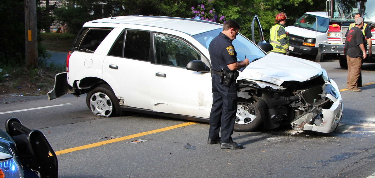 Three car MVA closes down Route 28, four transported to CCH… [VIDEO]
