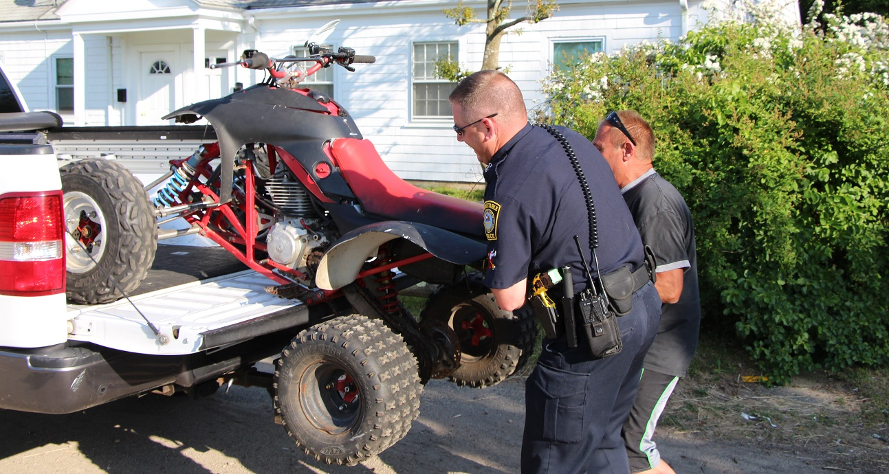 Father spots man driving son's stolen ATV…