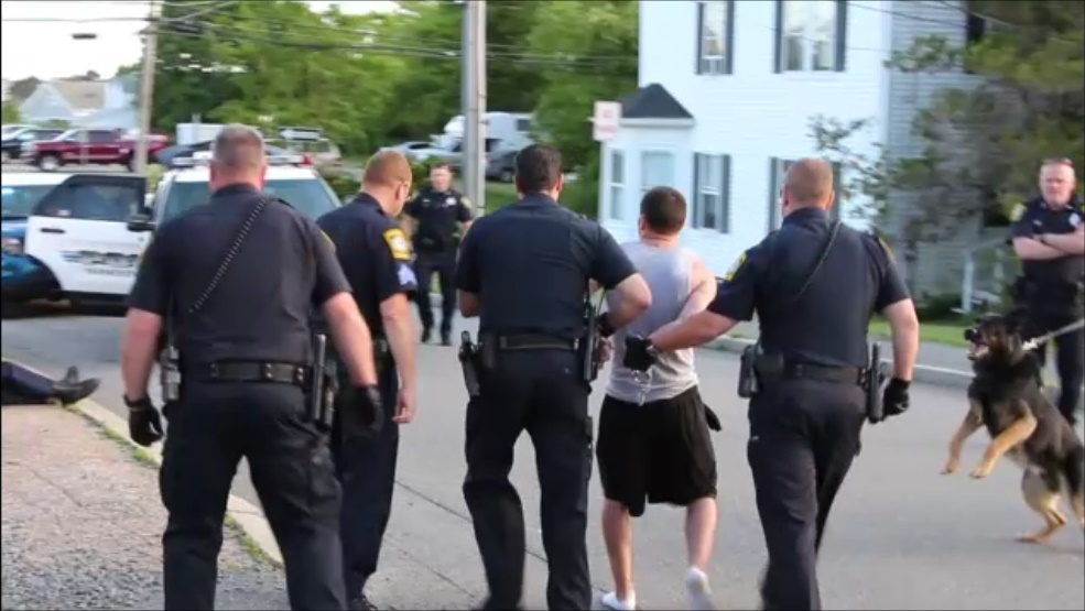 DRAMATIC VIDEO:  Hyannis News spots fleeing suspect… notifies cops… films foot chase and arrest… officer injured during pursuit…