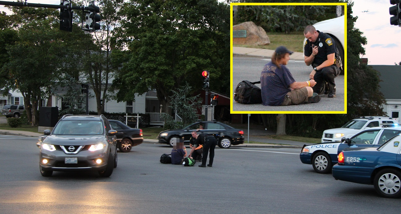 Disoriented patient found sitting in middle of busy intersection…