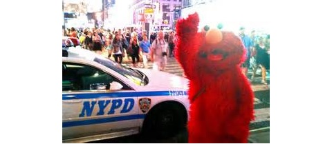 Elmo busted in Times Square…