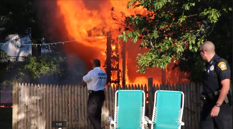 Young boy killed… children were playing inside before shed burst into flames…