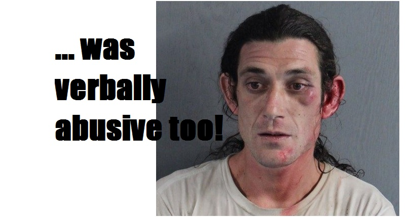 COPS: Drunken driver crashes jeep into river… swims ashore… flees on foot… and fights police officer…