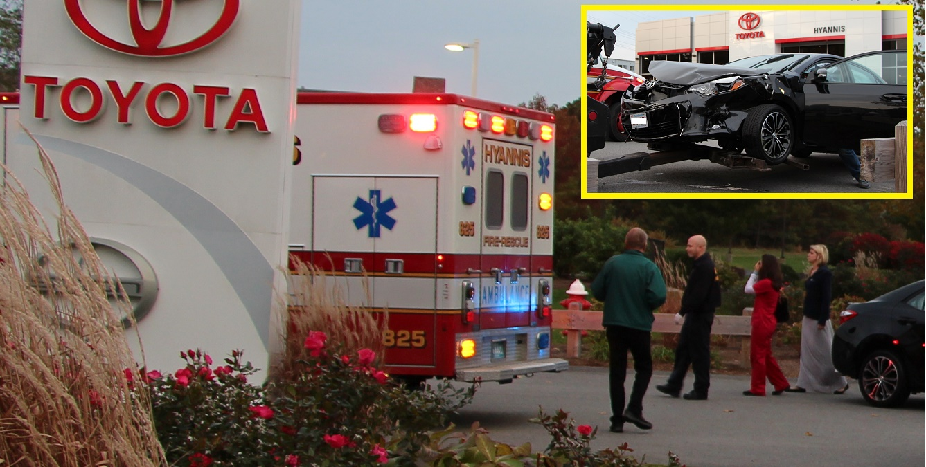 HEARTBREAKING:  Brand new 2015 Corolla totaled as it drove off lot…