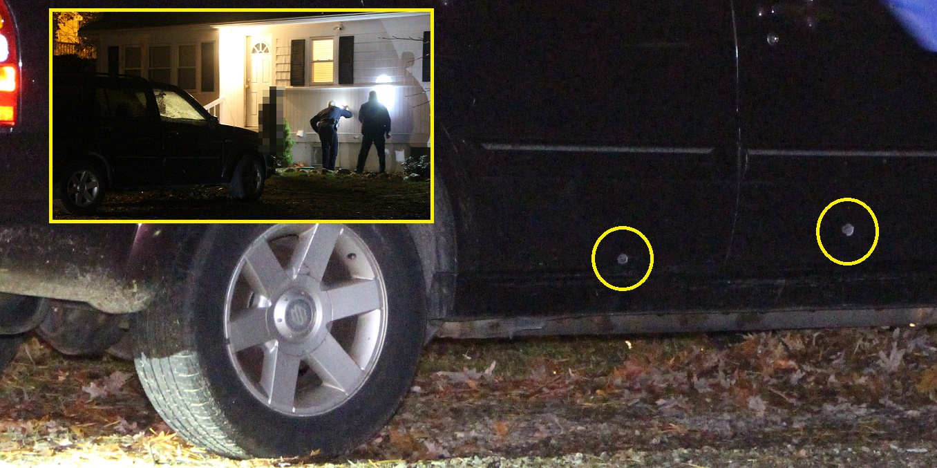 Family home and SUV peppered  with bullets…  [VIDEO]