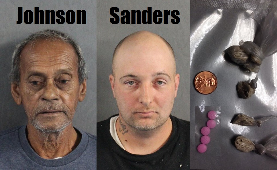 Proactive Anti-Crime Unit responded to suspected drug activity… arrested two… seized pills and heroin…