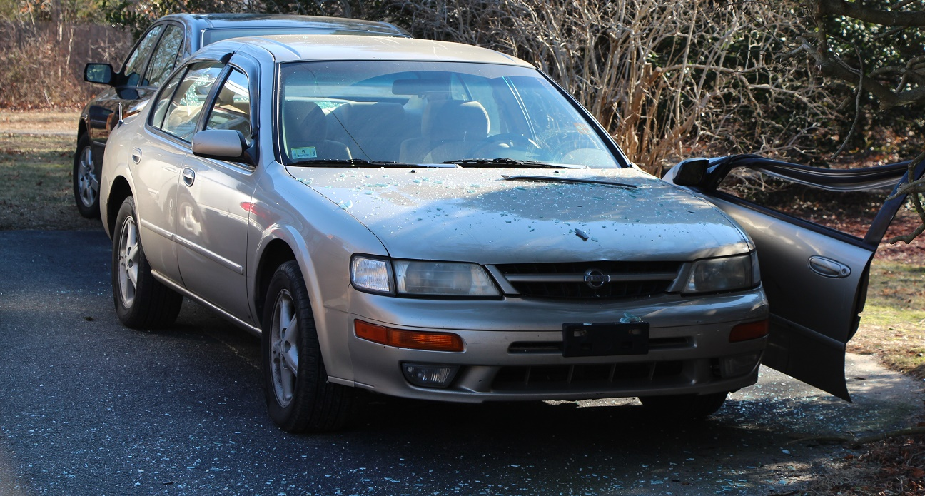 Glass went flying after 10-year-old drove Nissan into neighbor's car…
