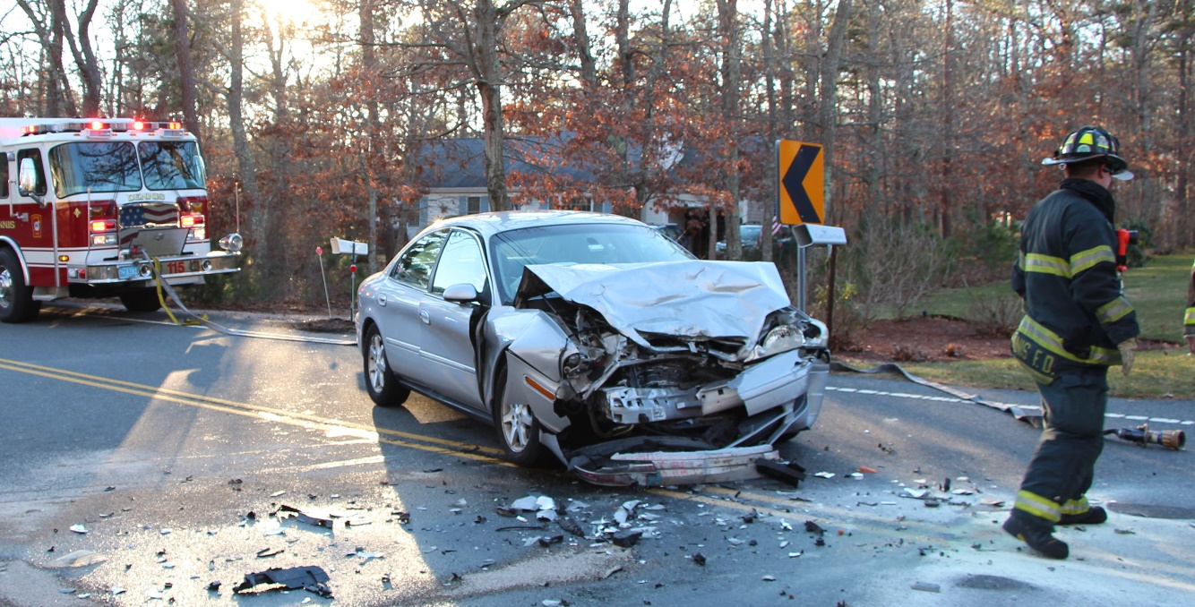 Head-on on Dennis side road sends three to CCH… [VIDEO]