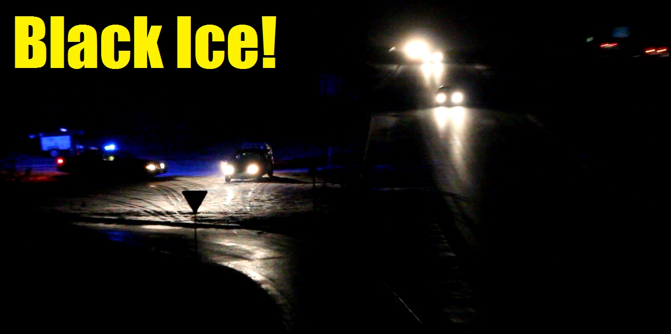 Numerous vehicles slid off local highways last evening… [VIDEO]