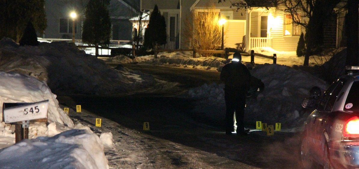 GUNSHOTS:  Police investigating shell casings, knives, and blood found after altercation…