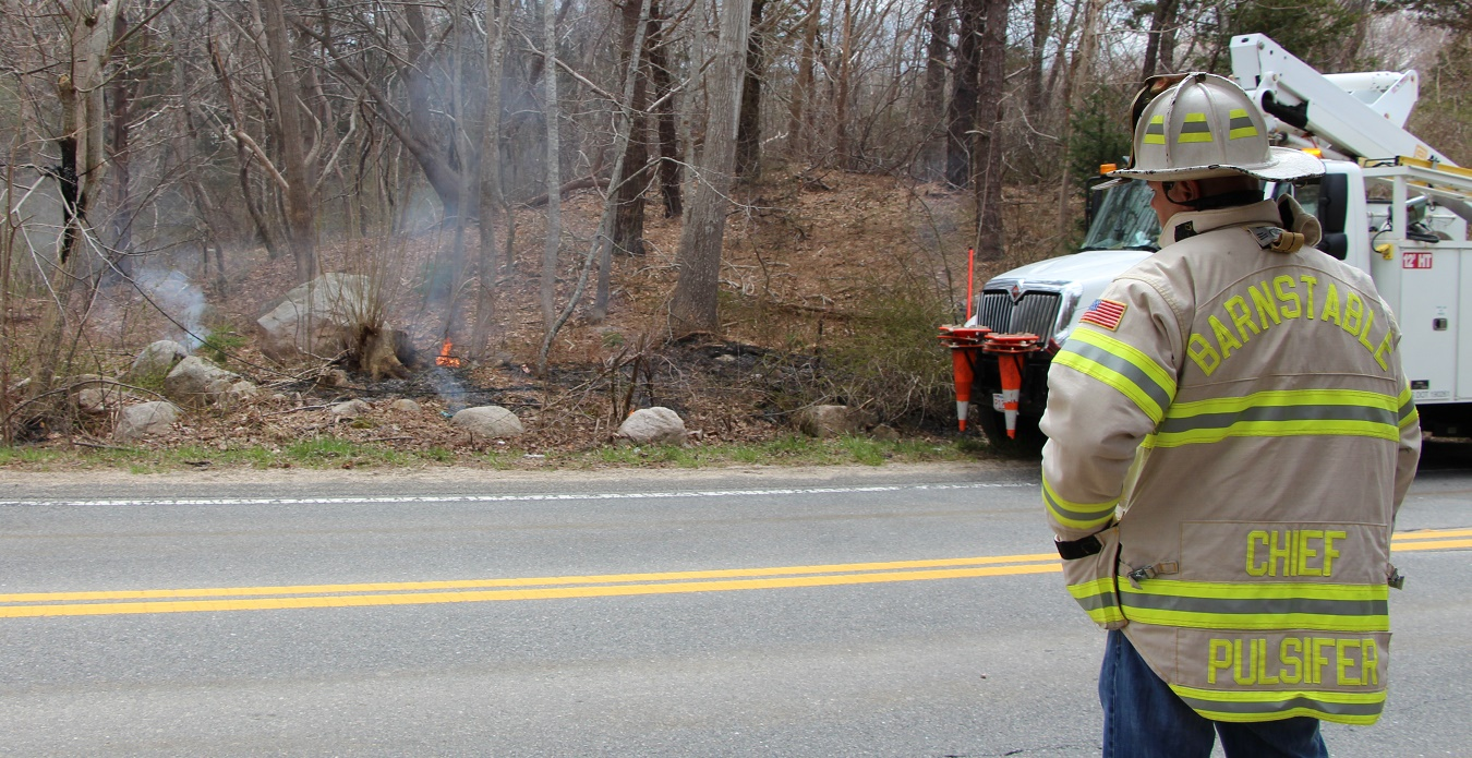 VIDEO:  Box truck takes down support pole, trips high tension wires, sets fire to woods…