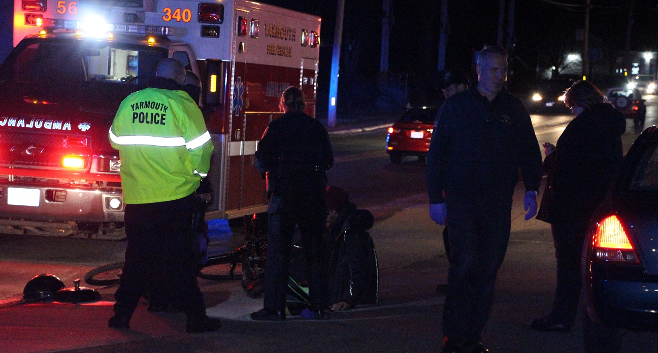 HIT & RUN:  Bicyclist reportedly went over hood of blue sedan that fled the scene… [Video]