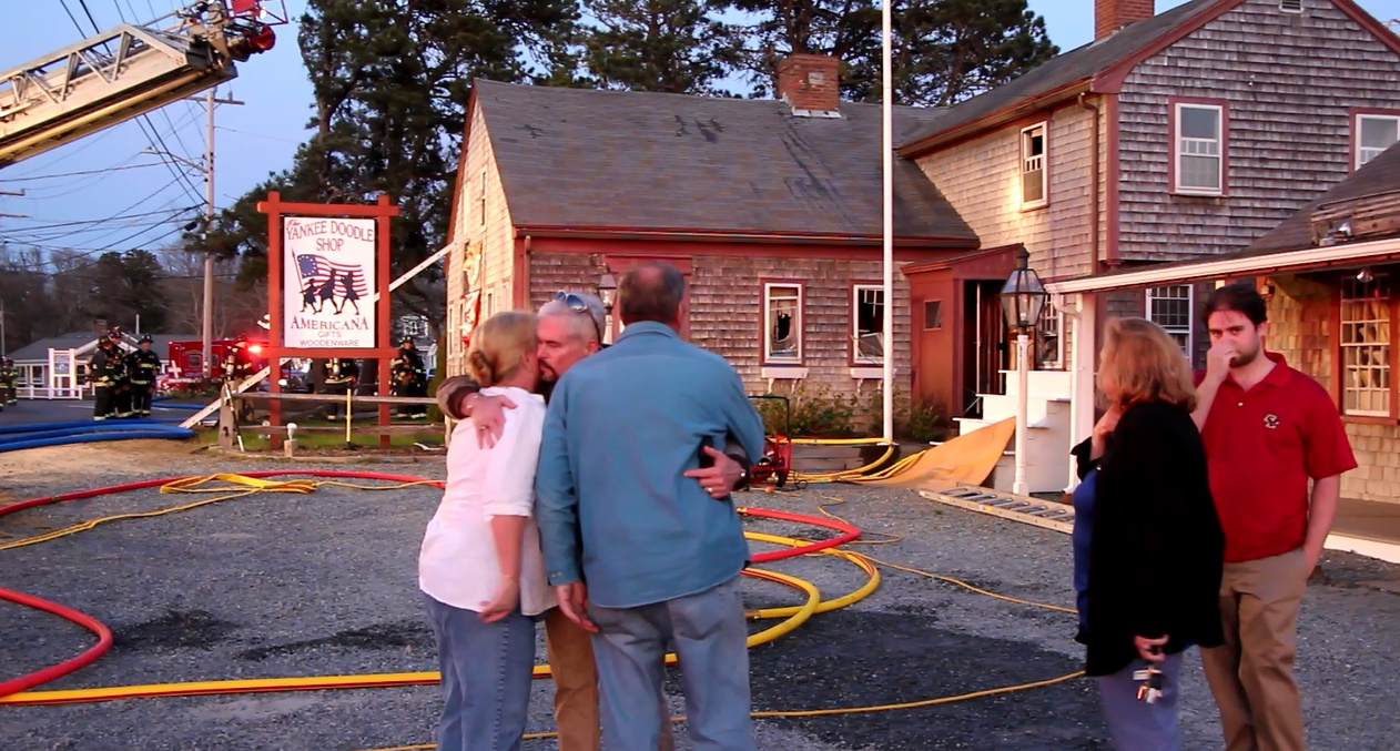 VIDEO:  The Yankee Doodle Shop Fire…