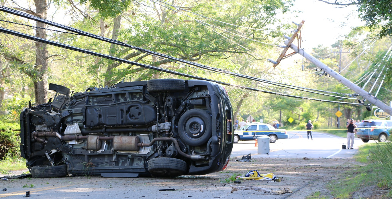 PHINNEYS LANE CLOSED:  Transformer down after two car collision… driver sent to CCH… [VIDEO]