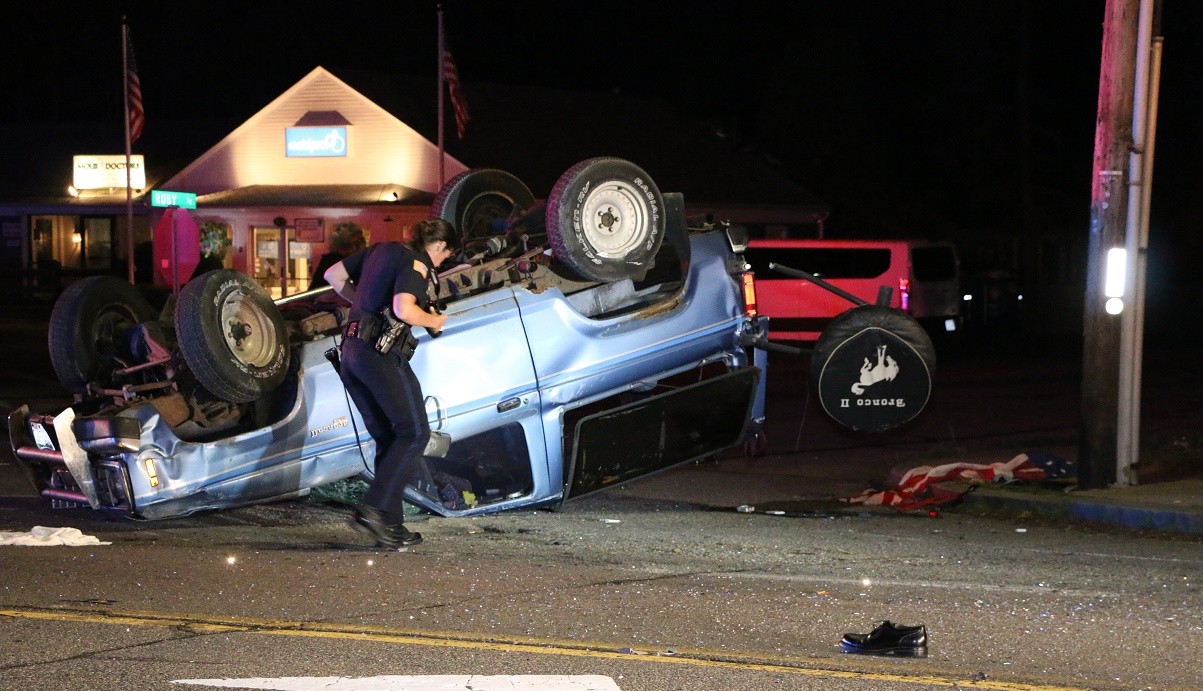 MYSTERY CRASH:  Route 28 closed after rollover… driver still not found… [VIDEO]