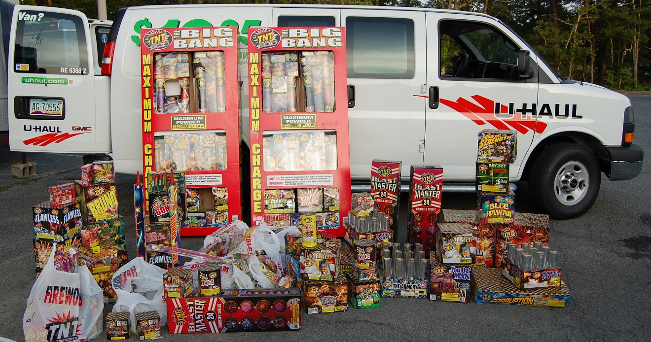 NO BANG FOR THE BUCK:  Local cops were looking for U-HAUL van with $14,000 in fireworks…