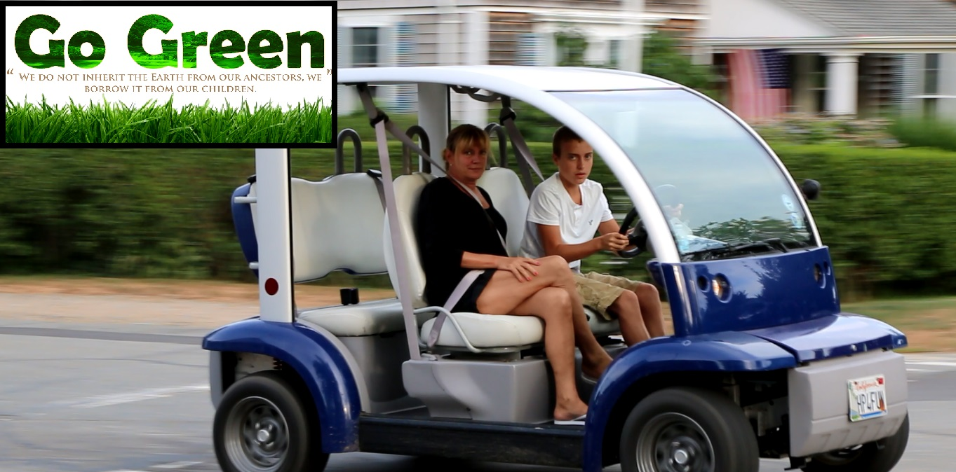 GO GREEN WITH GOLF CARTS:  HyPort's transportation solution for people of all ages…