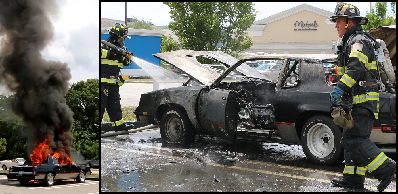UP IN FLAMES:  1985 Oldsmobile Cutlass… owner just got it last week… [VIDEO]