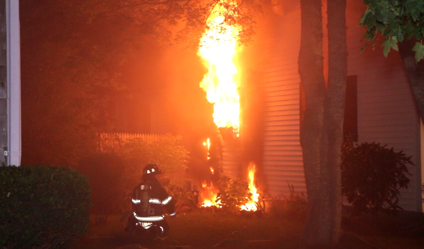 HOUSE FIRE:  Started in boy's room… family of four evacuated just in time… [VIDEO]