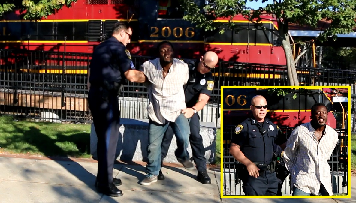 COPS:  Young mom shoved to the ground, robbed in broad daylight… newly arrived homeless man in custody… [RAW VIDEO]