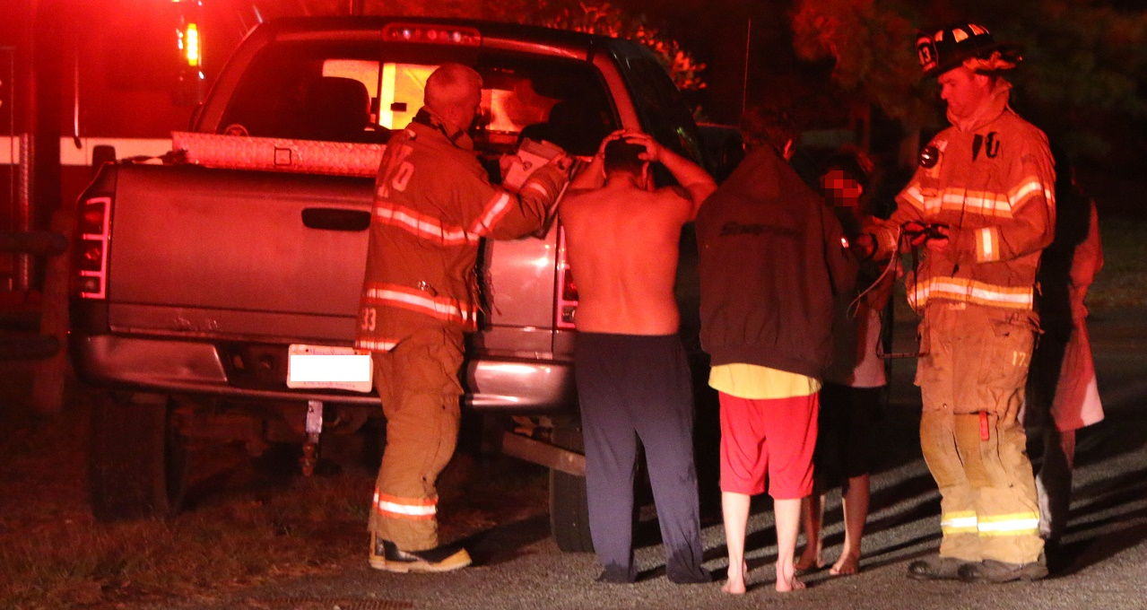 Children, pets, and parents safe after electrical fire…