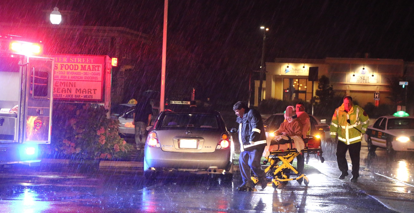Bicyclist struck by taxi…