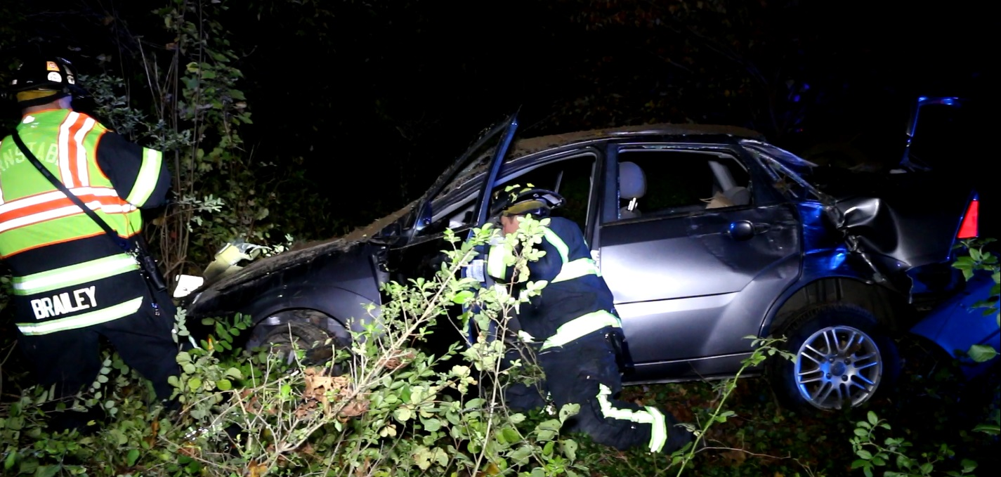 Bad crash on winding Route 6A… two cats reportedly missing…