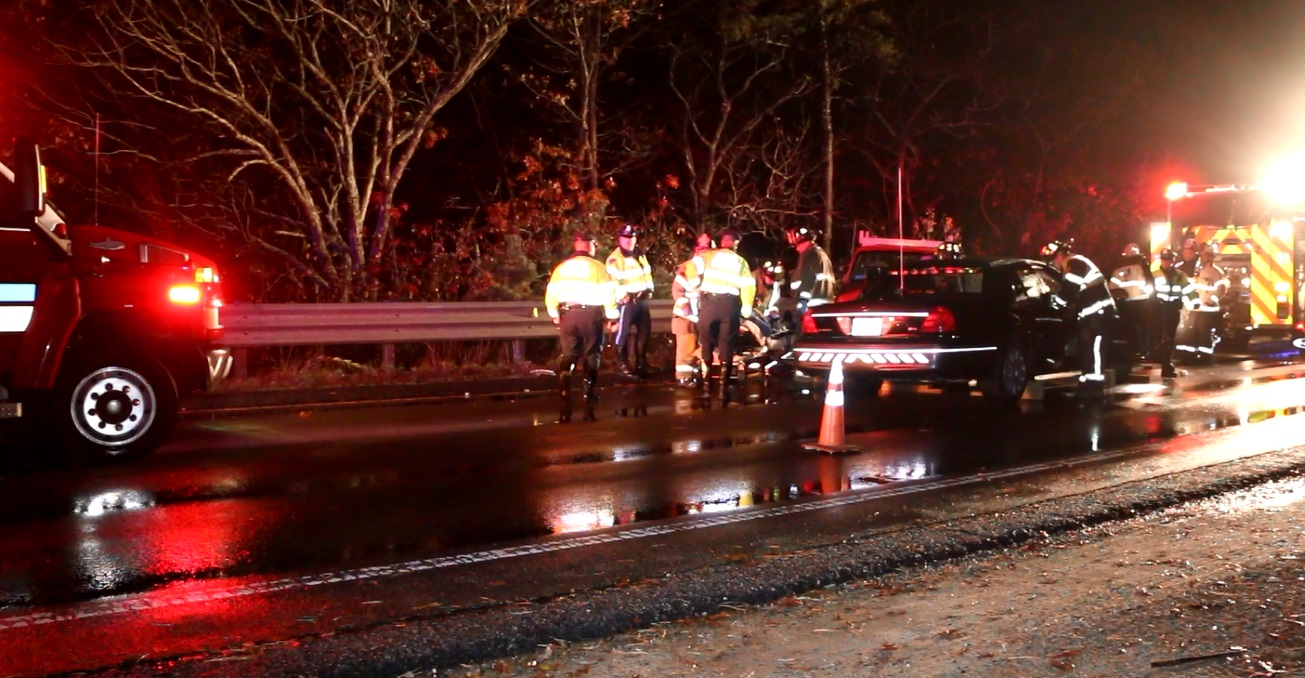 VIDEO:  Trooper hurt after collision with wrong way driver… extricated after trapped in cruiser…
