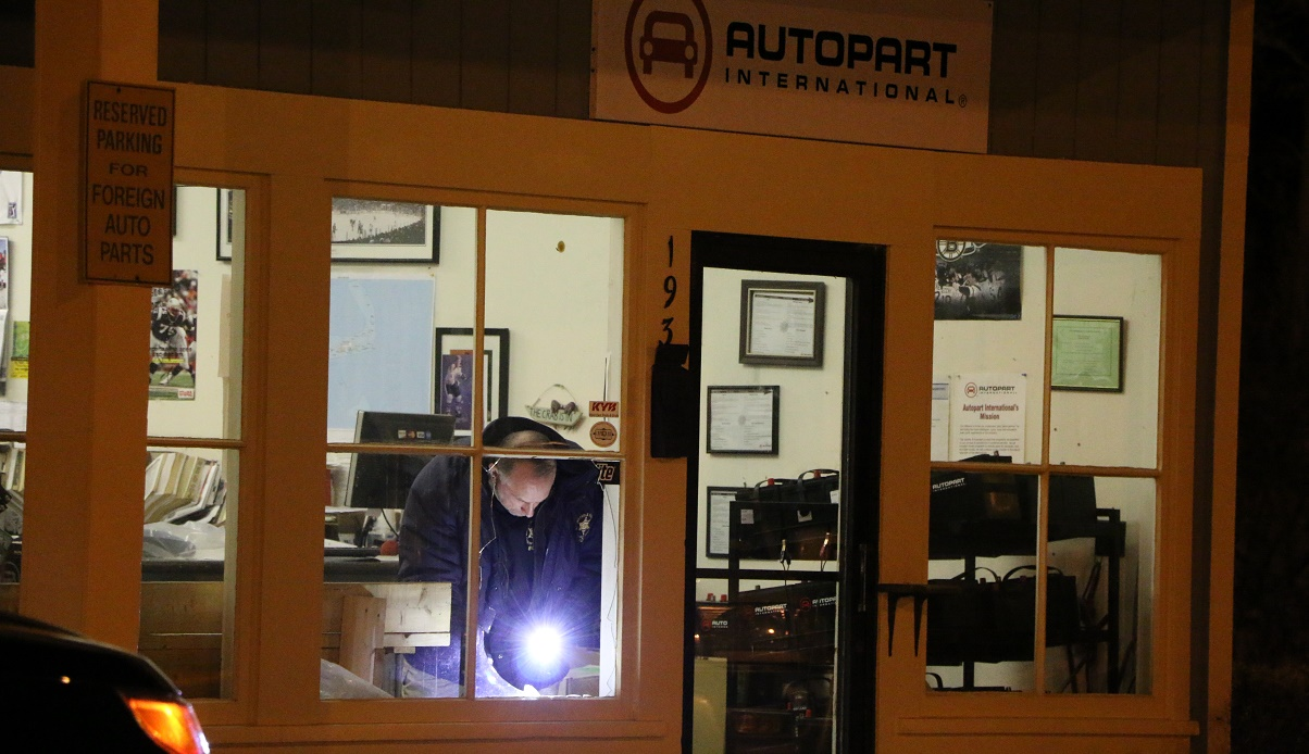 Cops investigating early morning break into automotive supply shop…