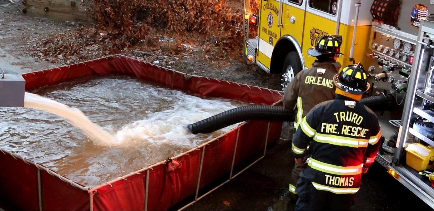 NICE SAVE: Challenging Wellfleet fire… no hydrants… no water… team effort… [VIDEO]