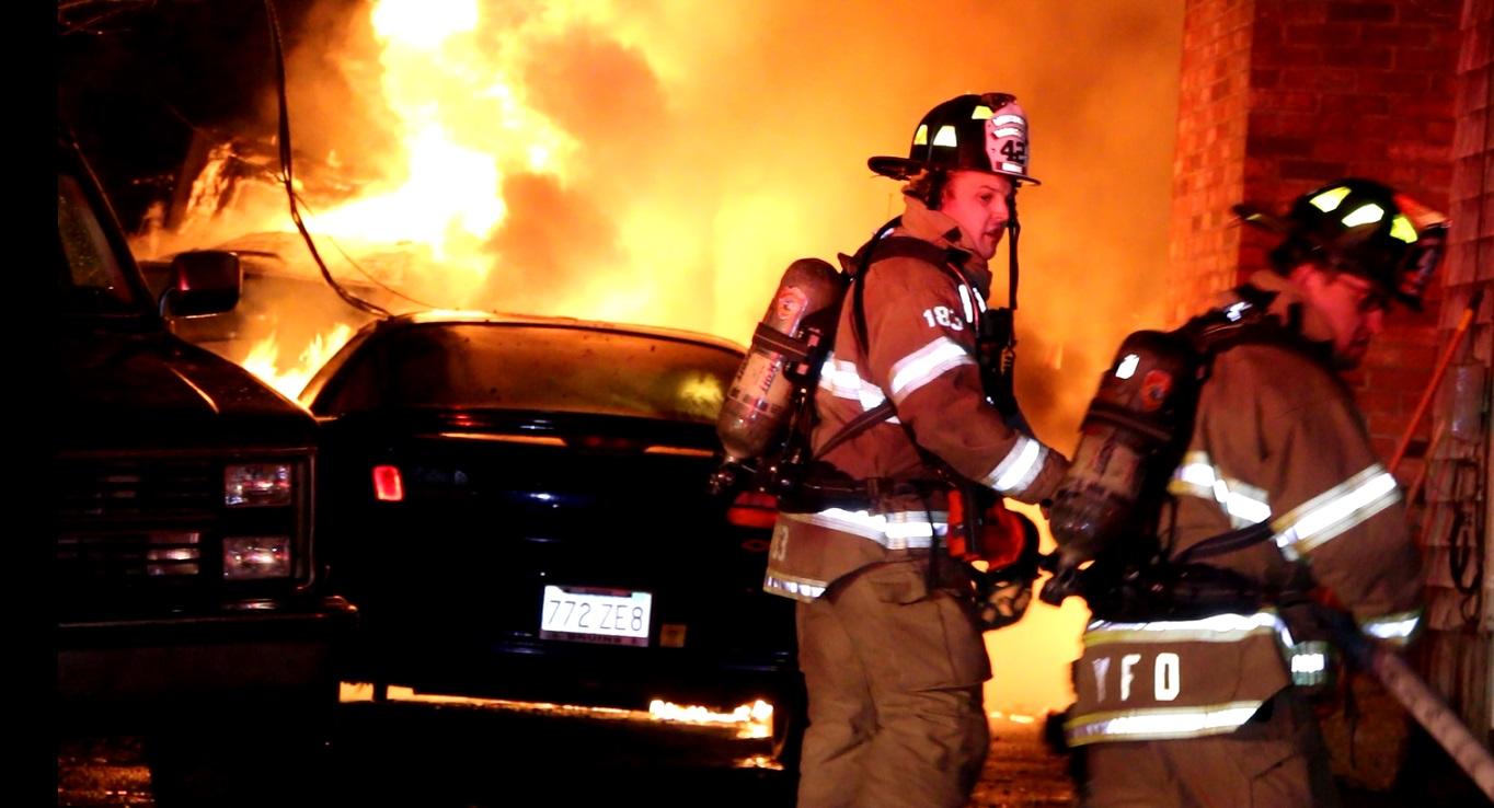 VIDEO:  Firefighters battle blaze in Dennis…