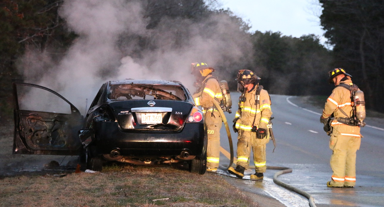 Car reportedly on fire before finally stopping on Mid-Cape… Route 6 needed to be closed… [VIDEO]