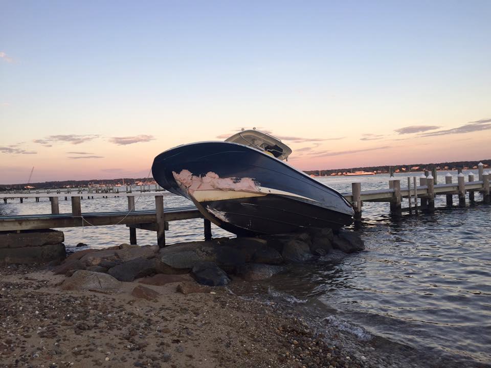 BOAT ON THE ROCKS: Teen arrested after unmanned boat crash…