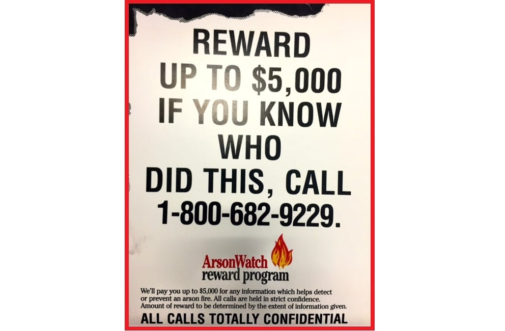 YARMOUTH ARSON: Up to $5,000 reward for information…