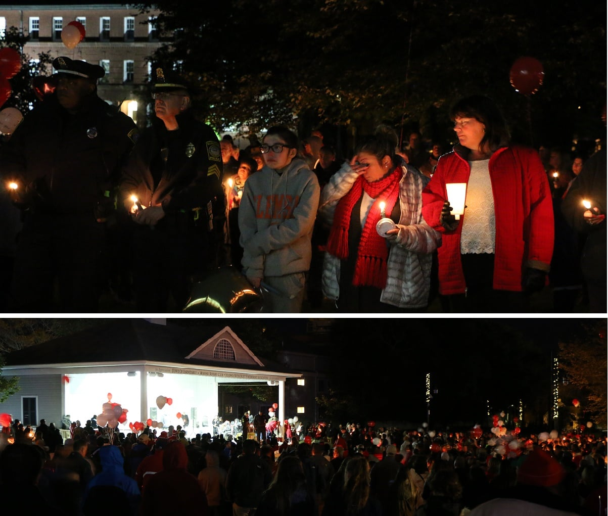 Vigil in honor of 5 young men tragically killed this past week… [VIDEO]
