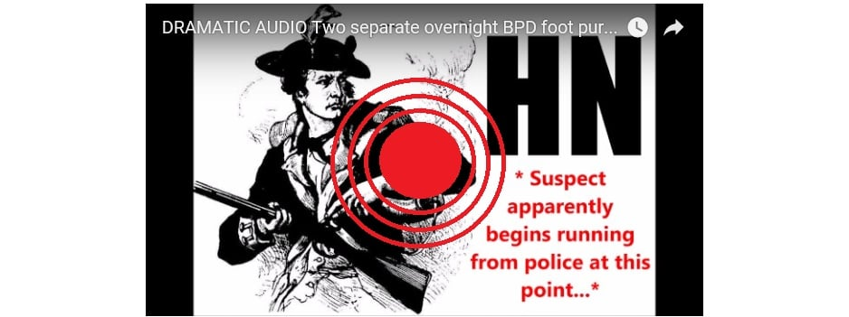 DRAMATIC AUDIO – Two separate overnight BPD foot pursuits… in just two hours… lieutenant headbutted…