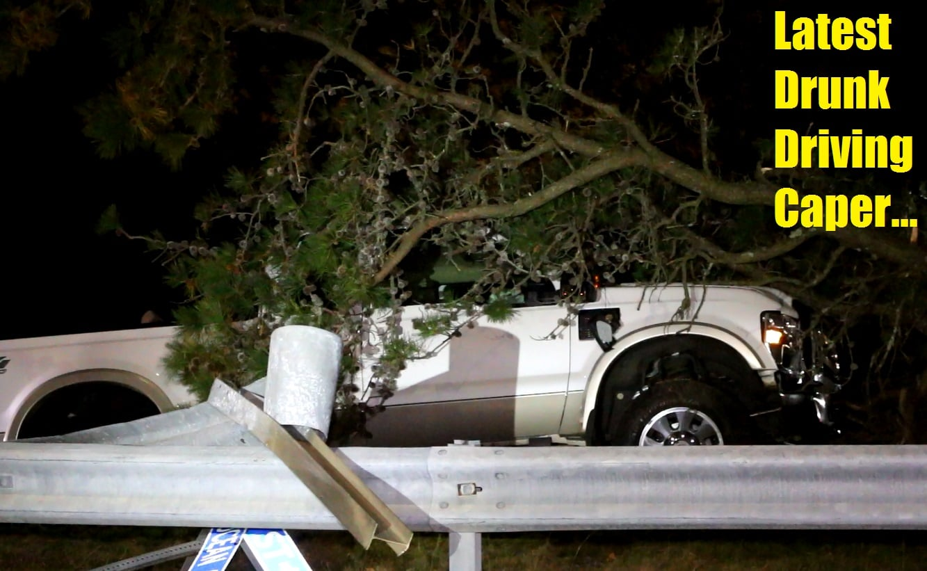 Driver fled after plowing through guardrail, then trees at Sea Street & Ocean Ave… [VIDEO]
