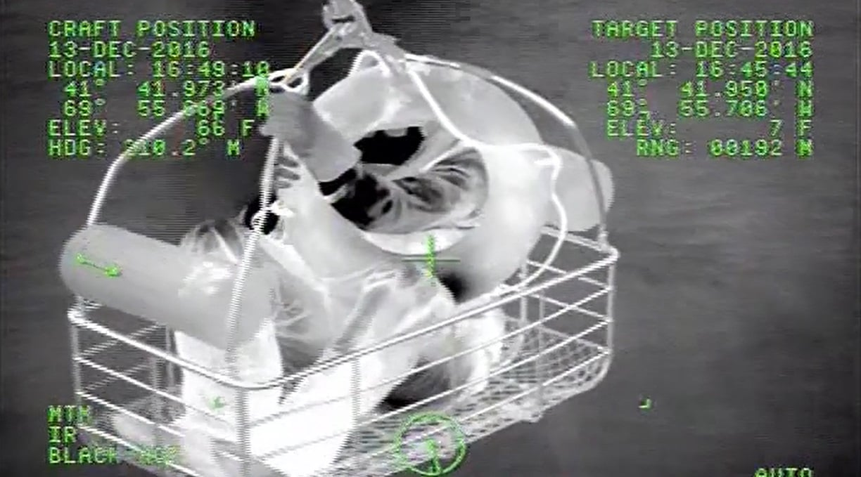 AMAZING VIDEO: Coast Guard plucks man from darkness off unforgiving Chatham Bar…