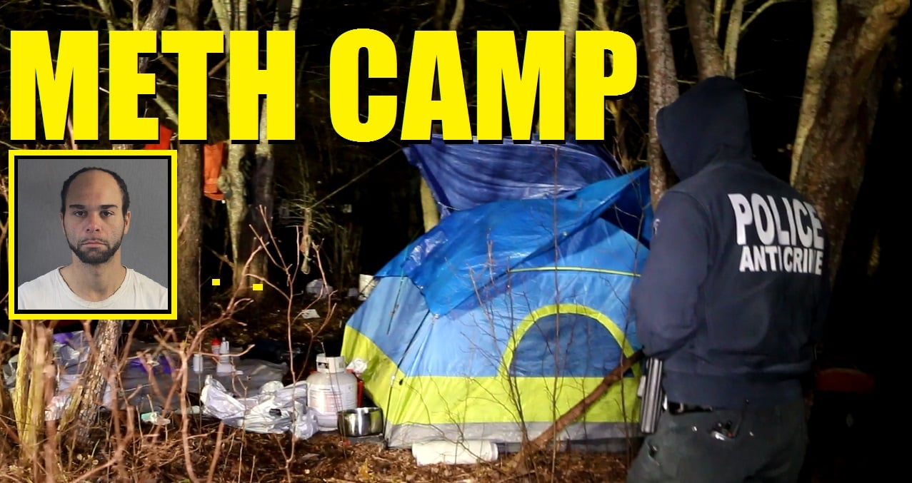 "EXTREMELY VOLATILE CHEMICALS: ""Active"" meth operation discovered on Cape Cod Hospital property… DEA Clandestine Lab Team sent in… Suspect in custody… taken to ER due to reaction… [CRIME SCENE VIDEO]"