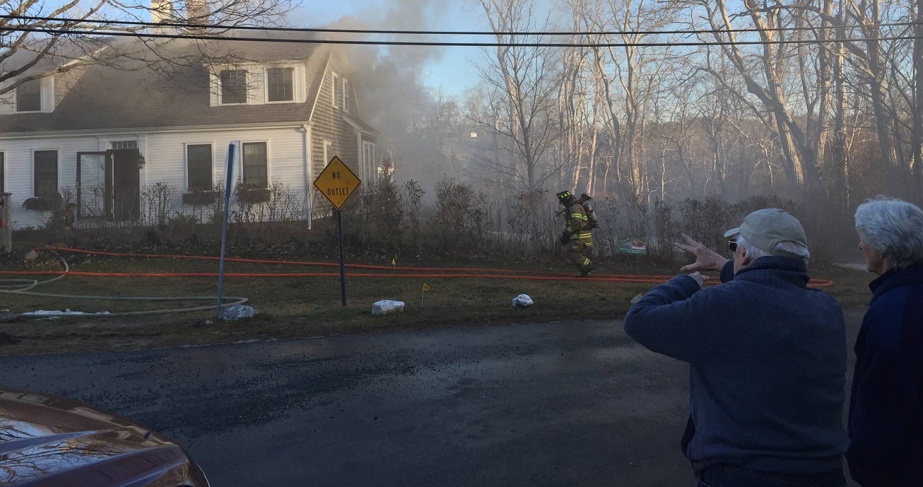 VIDEO & STILLS: Yarmouth Port fire knocked down quickly… one firefighter hurt…