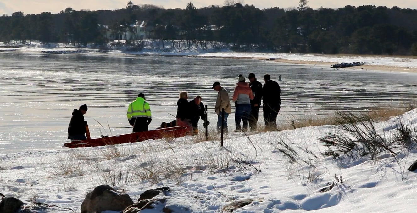 VIDEO: Missing woman pulled from icy Cotuit waters after intensive search… state police investigating…