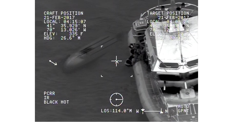 NANTUCKET SOUND MIRACLE: Man found clinging to overturned boat in dark frigid waters after girlfriend became worried… [Coast Guard Video]