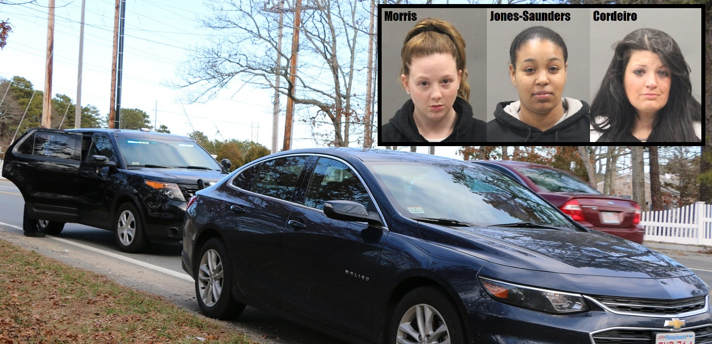 STOLEN CHEVY MALIBU: Three Cape women arrested during afternoon traffic stop…