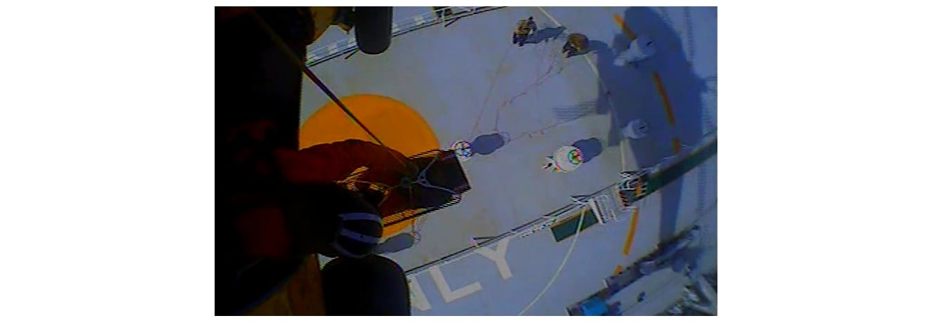 RESCUE VIDEO: Sick cargo ship crew member airlifted from windy Atlantic to Hyannis…
